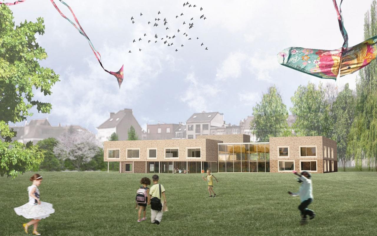 <strong>School en sportcentrum Bempt, Brussel<span><b>groter</b></span></strong><i>→</i>